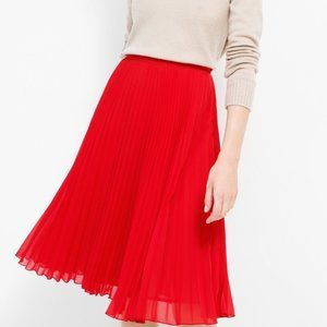 MNG Suit Mango Midi Pleated Full Skirt in Red